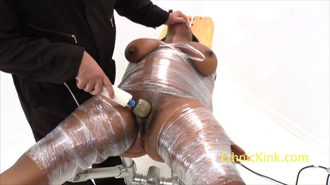 Stacy Short Vibrated on the Apparatus BBW Big Tit's Bound Orgasms Bound BBW Bondage Ebony Ebony BBW