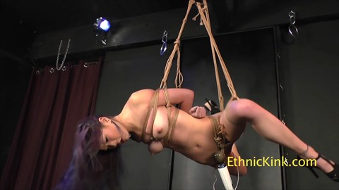 Leah Hart Cums Hard Asian Submissive Bondage Bound Orgasms Suspension Tease & Denial