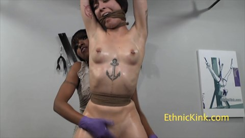 Mei Mara Bound and Oiled For Orgasm Bondage Bound Orgasms Lesbian BDSM