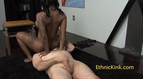 Go Go Fuck Me Face-sit CockTease Ebony Ass Worship Face Sitting
