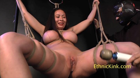 Nyssa Nevers Suspended and Fucked Bound Orgasms Asian Submissive Tease & Denial