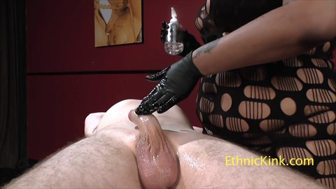 Finger Smacked and Abandoned Cock Tease Hand Jobs Latex Ebony BBW CBT