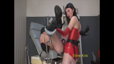 Fucked in Red Latex By Nelja Ass Play Female Domination