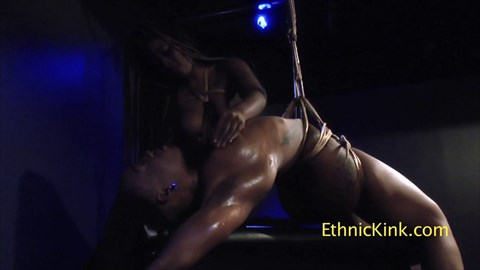 Nubian Honeys Tickled and Submit Bondage Masturbation Lesbian Dildo Sucking Suspension Tickling