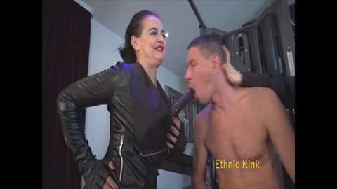 Two Mistresses and the Faggot Blow Job Instruction Dildo Sucking Female Domination Fem Dom