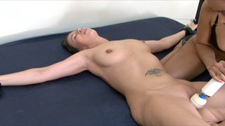 Jennifer's Spread Eagle Orgasm